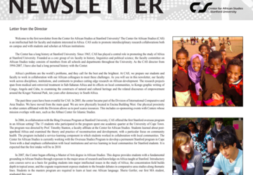picture of the CAS 08 Newsletter